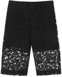 Valentino Heavy Lace Shorts 40 Cotton - Black