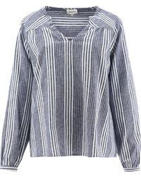 Woolrich - Striped Organic Blouse - Lyst