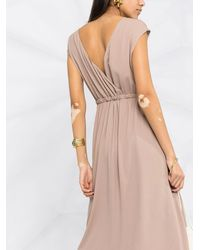Fabiana Filippi V-back Sleeveless Maxi Dress - Multicolour