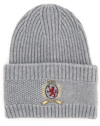 Tommy Hilfiger Tommy Classic Knit Hat With Logo Embroidery - Gray