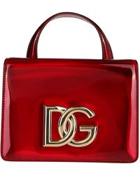 Dolce & Gabbana Red Leather Strobo 3.5 Top Handle Bag