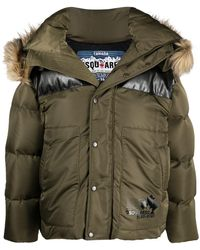 DSquared² Hooded Puffer Jacket - Green