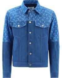 Marine Serre Cotton Jacket - Blue