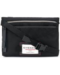 Givenchy Logo-patch Messenger Bag - Black
