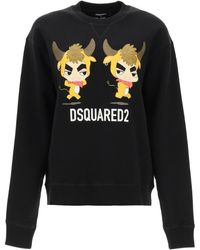 DSquared² Year Of The Ox Sweatshirt M Cotton - Black