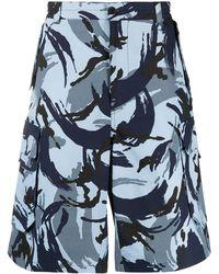 KENZO Tropic Camo Cargo Shorts - Blue