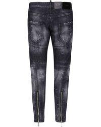 DSquared² Black Cotton-blend Jeans