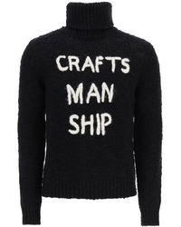 Dolce & Gabbana Turtleneck Jumper Craftsmanship Embroidery - Black