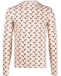 Marine Serre Moon Print T-shirt - Pink