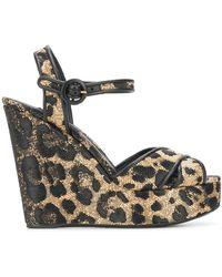 Dolce & Gabbana Leopard Print Wedge Heels - Multicolour