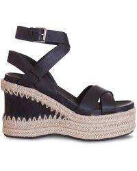 Ash Platform Sandals - Black
