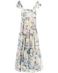 Zimmermann Cassia Hydrangea Floral Midi Dress - Multicolour