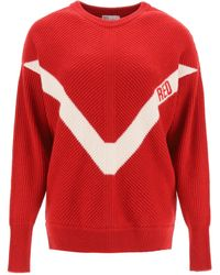 RED Valentino Jumper With Red Embroidery