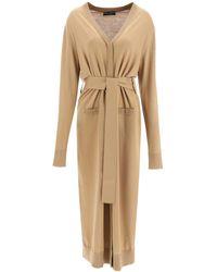 Dolce & Gabbana Long Wool Cardigan - Natural