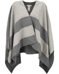 Fabiana Filippi Wool And Cashmere Poncho - Grey