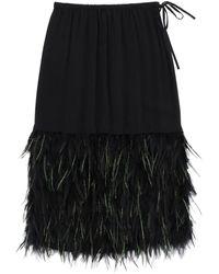 Dries Van Noten - Midi Skirt With Feathers - Lyst