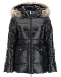 Pyrenex Authentic Down Jacket With Fur - Black