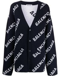 Balenciaga Sweaters Blue