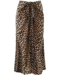 Ganni Leopard Print Skirt - Multicolour