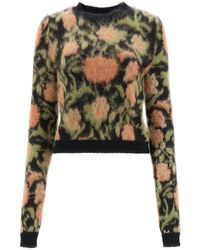 Paco Rabanne - Floral Tapestry Pullover - Lyst