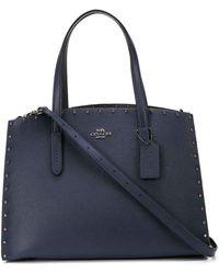 COACH Crystal Rivet Charlie Carryall Bag - Blue