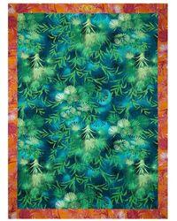 Versace Beach Towel With Jungle Print Unisex - Green