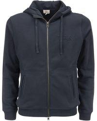 Woolrich Luxe Full-zip Hooded Sweatshirt - Blue