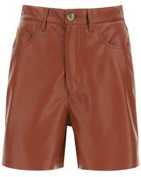 Nanushka Leana Shorts In Vegan Leather - Multicolour