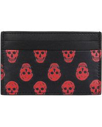 Alexander McQueen Black And Red Leather Cardholder