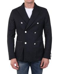 Tonello Double-breasted Jacket - Blue