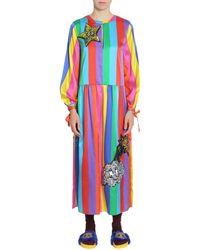 Mira Mikati Silk Blend Rainbow Dress - Multicolour