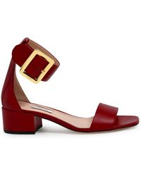 Bally Janise Ankle Strap Sandals - Red