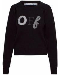 Off-White c/o Virgil Abloh Maglione Embroidery Nera - Black