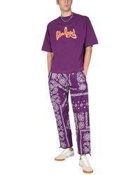 Palm Angels Bandana Print Pants - Purple