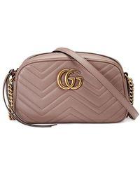 Gucci Women's Porcelain Rose Pink Marmont Leather Shoulder Bag - Multicolor