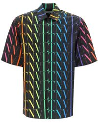Valentino Vltn Times Multicolour Shirt - Blue