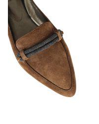 Brunello Cucinelli Flat Shoes Brown