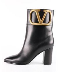 Valentino Garavani Vlogo Ankle Boot Black