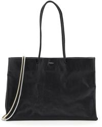 MEDEA Busted Dieci Leather Tote - Black