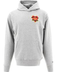 "BBCICECREAM ""heart & Mind"" Hoodie - Grey"