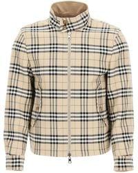 Burberry Gabardine Reversible Jacket 46 Cotton,wool - Natural