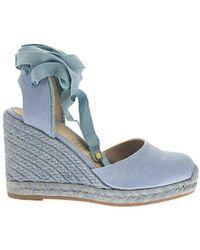Stuart Weitzman Marguerita - Wedge Sandal - Blue
