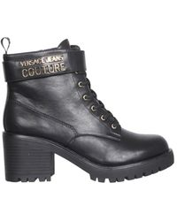 Versace Jeans Couture Boots With Logo - Black