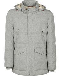 Brunello Cucinelli Coats Grey