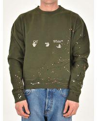 Off-White c/o Virgil Abloh Green Cotton Sweatshirt