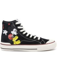 MOA Mickey Mouse Trainers - Black