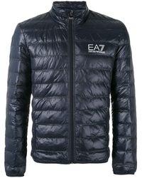EA7 Coats Blue