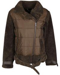 FEDERICA TOSI Army Green Down Jacket