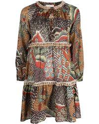 Anjuna Animal Print Cotton Minidress - Multicolor