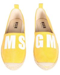 MSGM - Espadrilles With Logo Print - Lyst